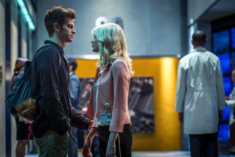 Andrew Garfield en Emma Stone in The Amazing Spider-Man 2 van Marc Webb. Beeld