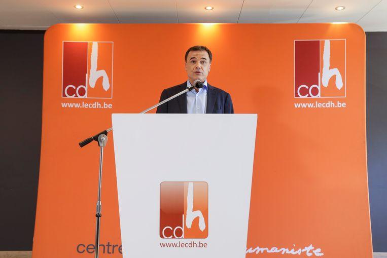 Benoît Lutgen (cdH) stapt uit alle regeringen met de PS. Beeld BELGA