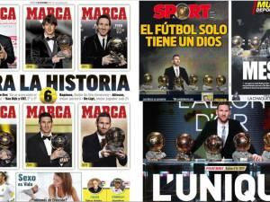 """""""Le foot n'a qu'un seul Dieu"""": la presse espagnole salue le record de Messi"""