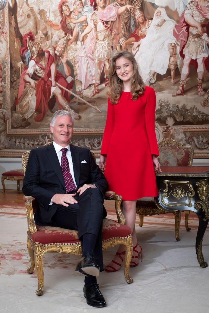 Koning Filip en prinses Elisabeth.