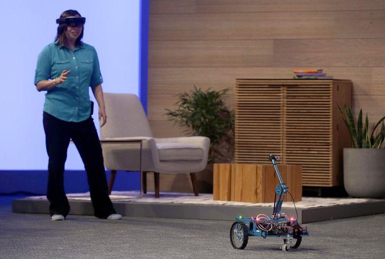 HoloLens-demonstratie op Build. Beeld ap
