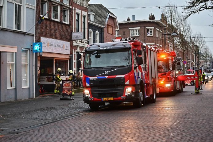 Brand bij Syrisch restaurant in Breda.