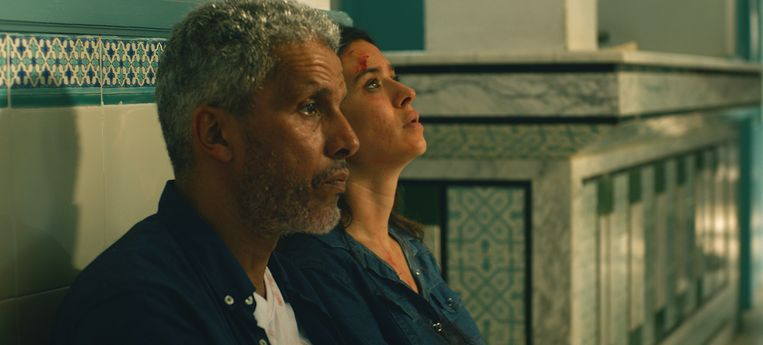 Fares (Sami Bouajilah) en Meriem (Najla Ben Abdallah) in de film 'Un Fils'. Beeld RV