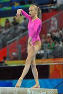 Nastia Liukin tijdens de Spelen van 2008.