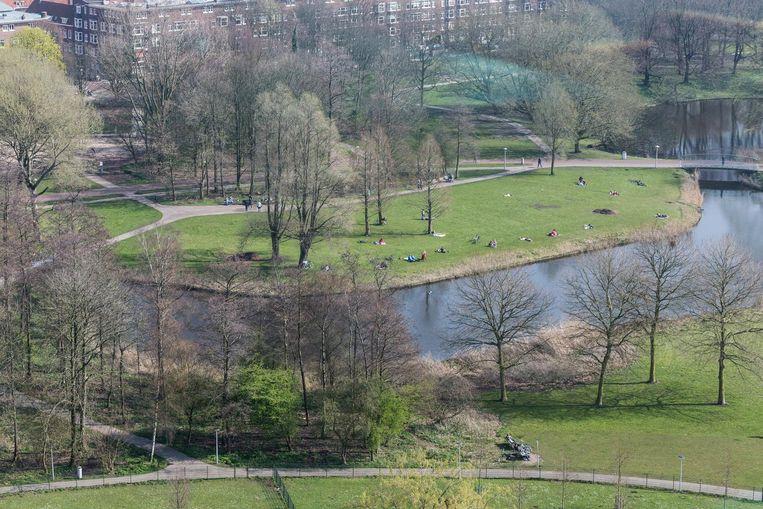 Er wordt grif geïnvesteerd in het Rembrandtpark (5 miljoen). Beeld Rink Hof