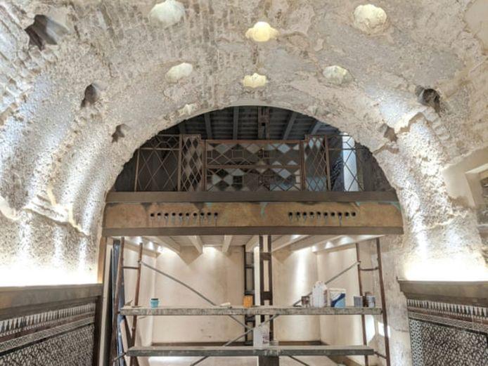 Overblijfselen van het badhuis in de Spaanse tapasbar.