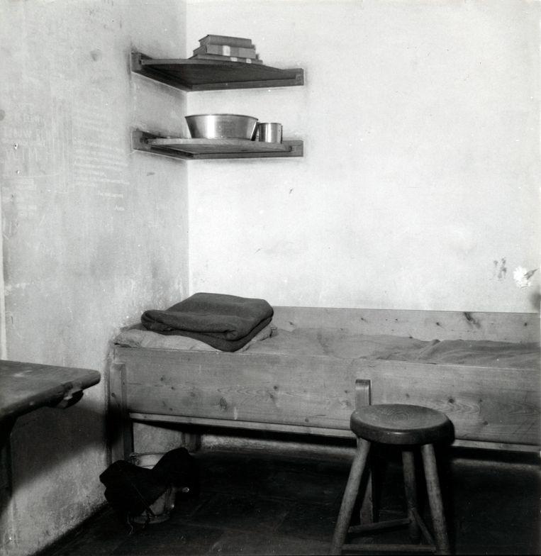 Dodencel nummer 601 in het Oranjehotel in Scheveningen. Datum onbekend. Beeld Foto Nationaal Archief / Collectie Spaarnestad