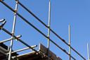 steiger bouw nieuwbouw woningbouw stockfoto stockdnr