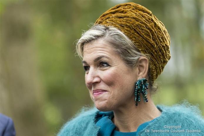 Koningin Maxima tijdens het streekbezoek aan Twente