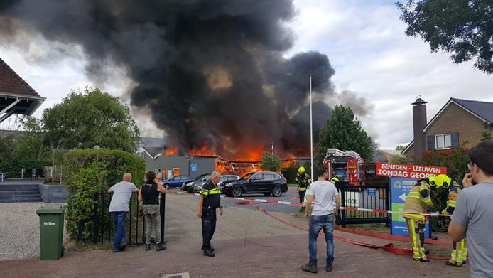 De brand op 13 september.