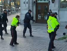 Man overmeesterd bij kranslegging premier Canada