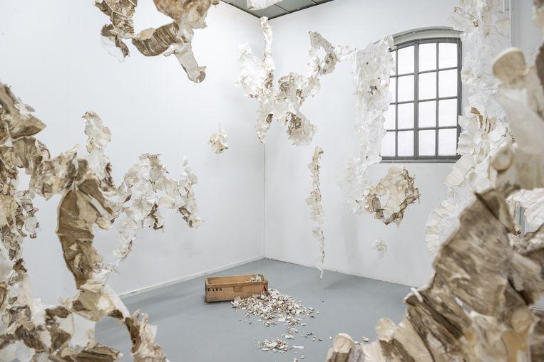 Atelier van kunstenaar Maria Kley.  Beeld Simon Lenskens