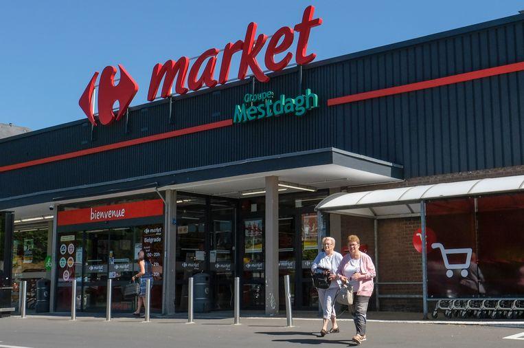 Het sociaal conflict bij Carrefour houdt aan. Beeld EPA