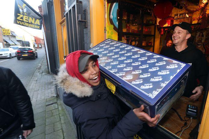 Archieffoto: vuurwerkverkoop in Baarle-Hertog.