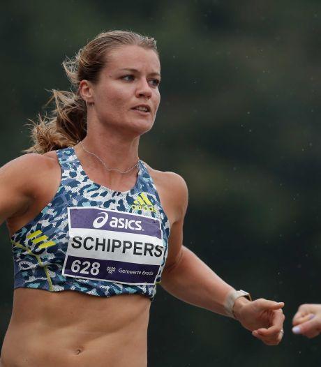 Dafne Schippers naast podium in nat Luzern