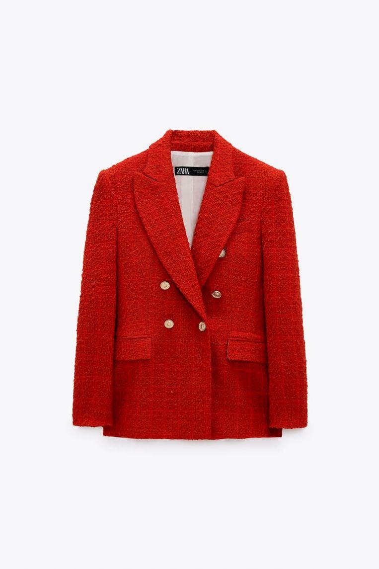 Rode blazer van Zara. Beeld Zara