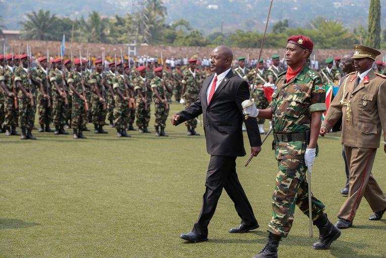 Pierre Nkurunziza in 2015. Dinsdag heeft de regering van Burundi bekend gemaakt dat Nkurunziza overleden is aan een hartaanval.  Beeld AP