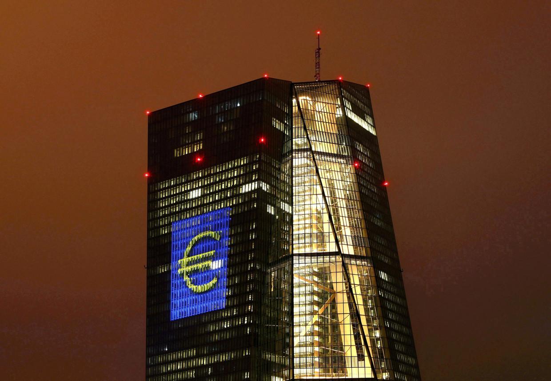 Hoofdkwartier van de Europese Centrale Bank (ECB) in Frankfurt. Beeld REUTERS