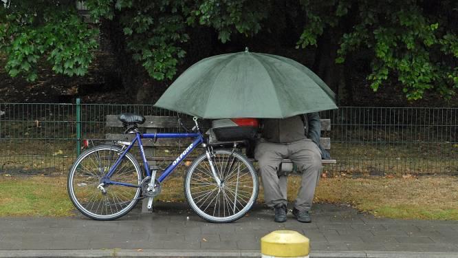 Opnieuw regenachtige dag met kans op donderslag