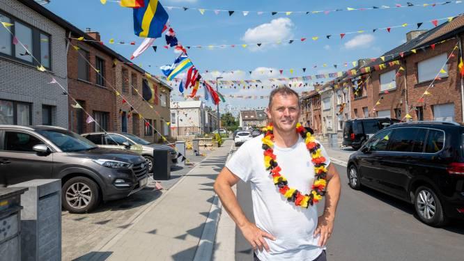 """Gino hangt straat vol EK-wimpels: """"Kocht zelfs alle vlaggen van deelnemende landen"""""""