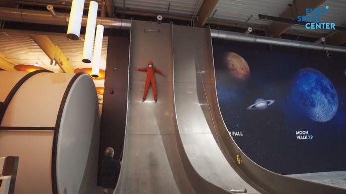 Le Free Fall Slide de l'Euro Space Center pour se faire gentiment peur.