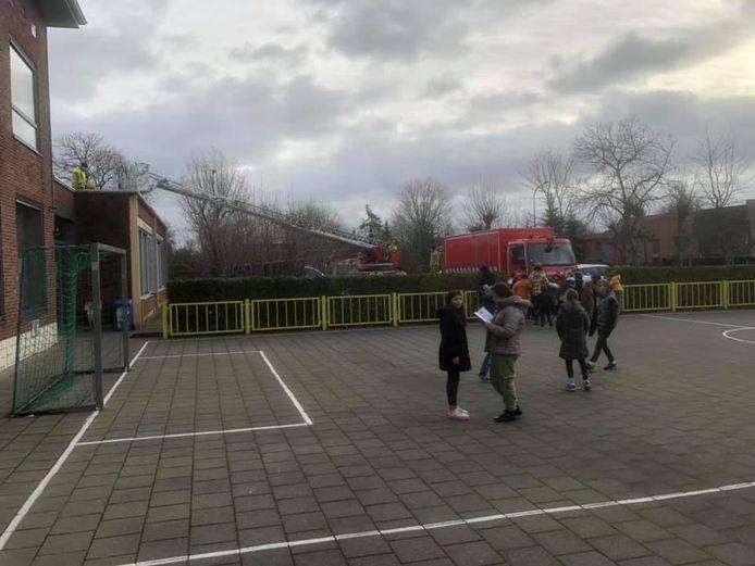De brandweer schoot ter hulp in De Hagewinde in Roeselare.