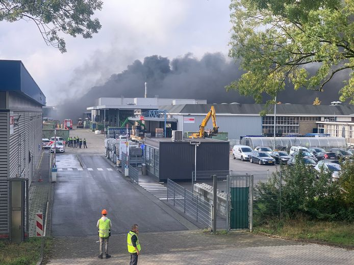 Grote brand in Eindhoven.