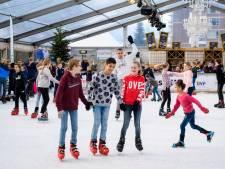 Streep door ijsbaan Papendrecht