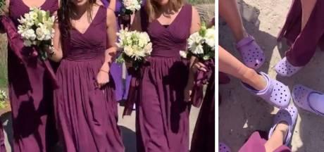 Des demoiselles d'honneur débarquent au mariage... en Crocs