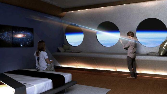 Een luxueuze suite in de ruimte.