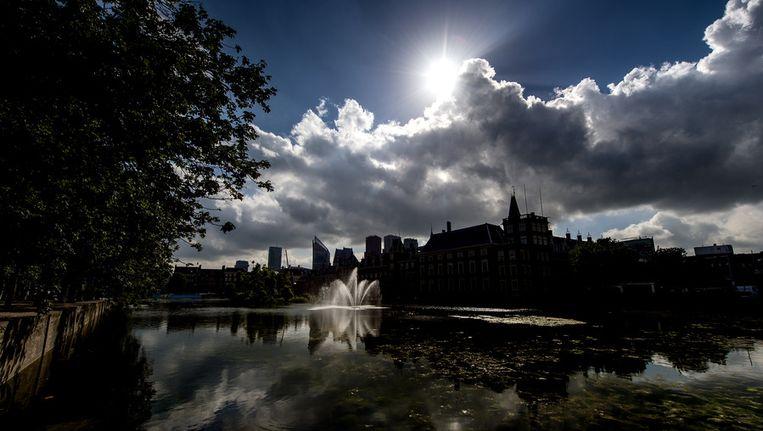 De hofvijver in Den Haag Beeld null
