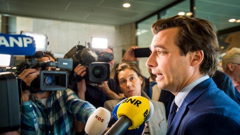 Via de media verspreiden politici als Thierry Baudet hun boodschap over het heroveren van de instituties. Beeld Lex van Lieshout/ANP