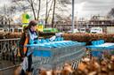 Bij de Albert Heijn in Gemert worden winkelkarren ontsmet na ieder gebruik. Elke bezoeker krijgt bij binnenkomst een schone winkelwagen.