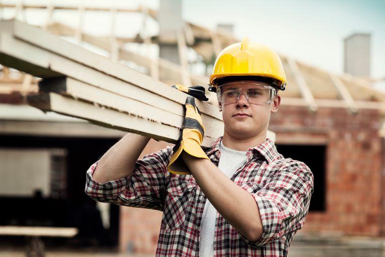 88 procent van de bouwbedrijven in Vlaanderen werkt met een collectieve sluiting Beeld ThinkStock