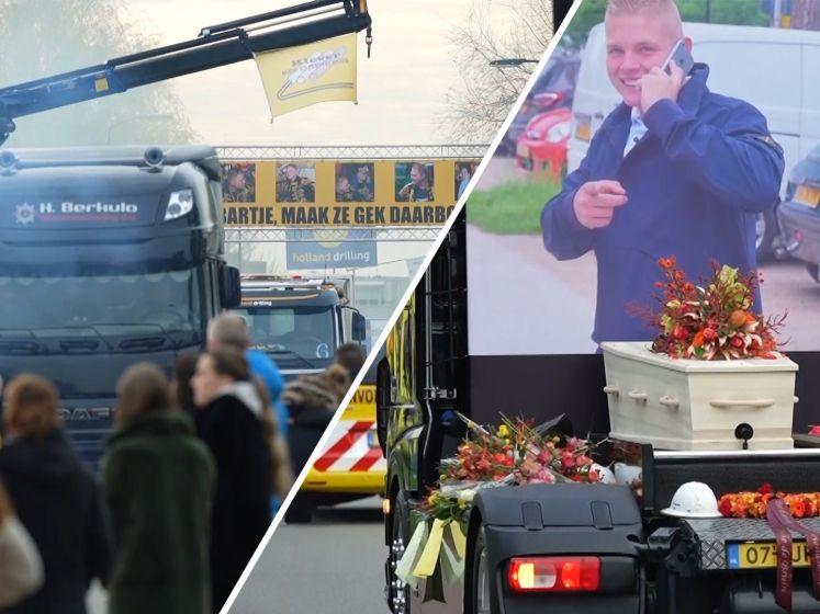 Verongelukte Bart (21) krijgt indrukwekkend afscheid in IJsselstein