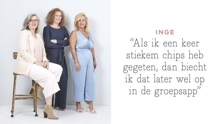 null Beeld v.l.n.r. Inge, Kathleen en Anita