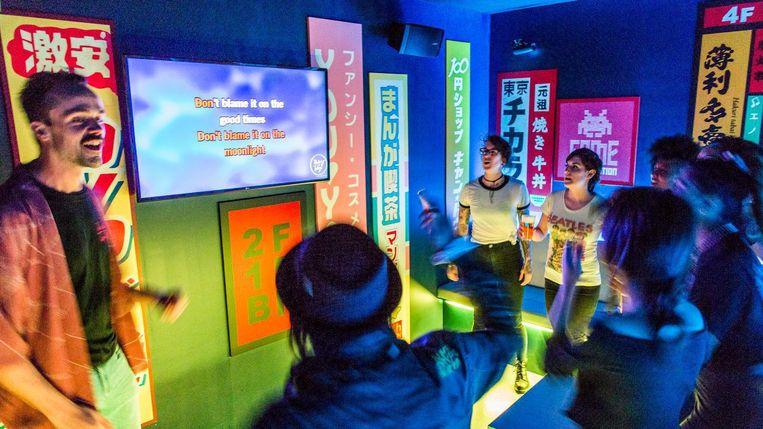 Lekker blehren in een van de acht privé-karaokebooths, kan gewoon. Beeld Tammy van Nerum