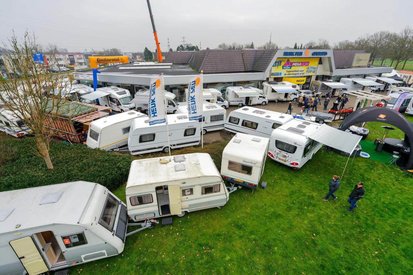 HAAKSBERGEN - Camperbeurs Henk Pen Caravans Westsingel 2 7481 WK Haaksbergen  Expo. Grote caravan- en campershow. editie : EN    foto Wouter Borre DTCT  WB20180113