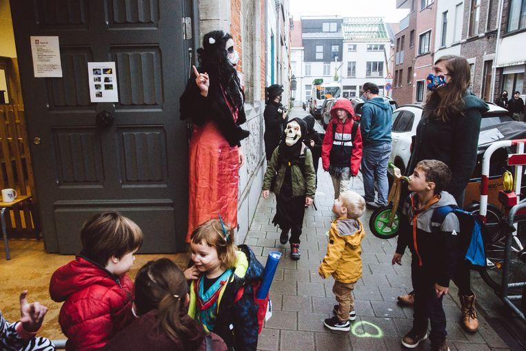 Halloween, Jenaplanschool De Feniks, Brugse Poort, Gent, Francis Vanhee Beeld Francis Vanhee