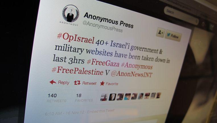Het Twitter-account Anonymous Press. Beeld