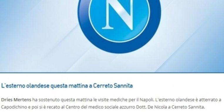De Nederlandse ster was vanmorgen in Cerreno Sannita, een Italiaanse gemeente nabij Napoli Beeld sccnapoli.it
