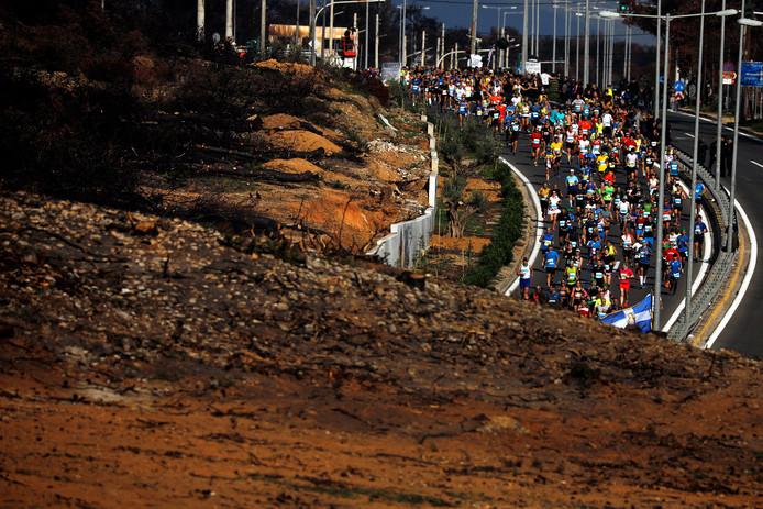 Hardlopers tijdens een marathon op een archieffoto.
