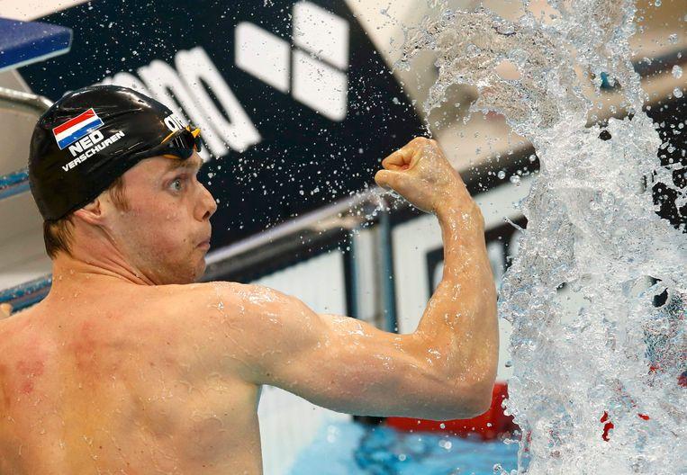 Swimming- European Aquatics Championships- Men's 200m freestyle final - London, Britain, 18/5/2016. Netherland's Sebastiaan Verschuren celebrates his victory.              REUTERS/Andrew Boyers Beeld REUTERS