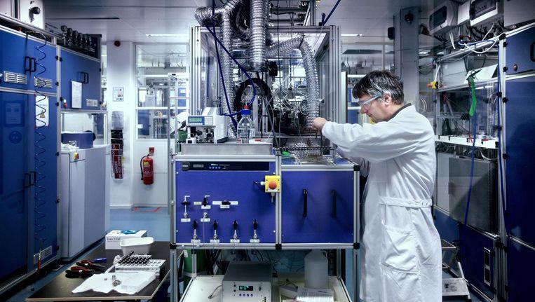 Avantium gaat een proeffabriek bouwen om het procédé, dat tot nu alleen in het laboratorium is getest, op industriële schaal uit te proberen Beeld Jean-Pierre Jans