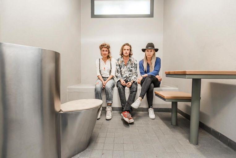 Denise Rosenboom, Merijn Kavelaars en Charlotte Bors (vlnr) Beeld Eva Plevier