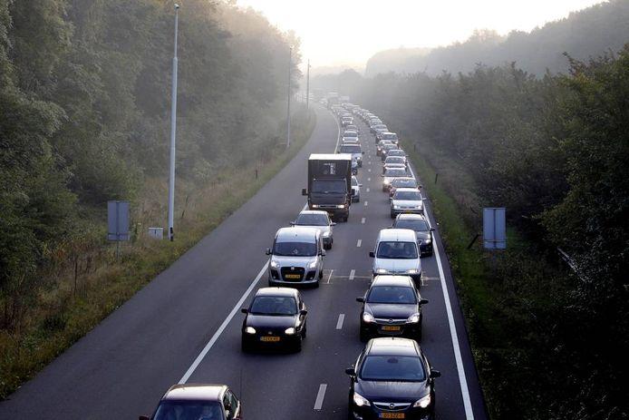 De A270 bij Nuenen.