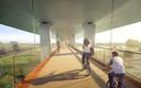 Artist impression nieuwe brug A15 over Pannerdensch Kanaal