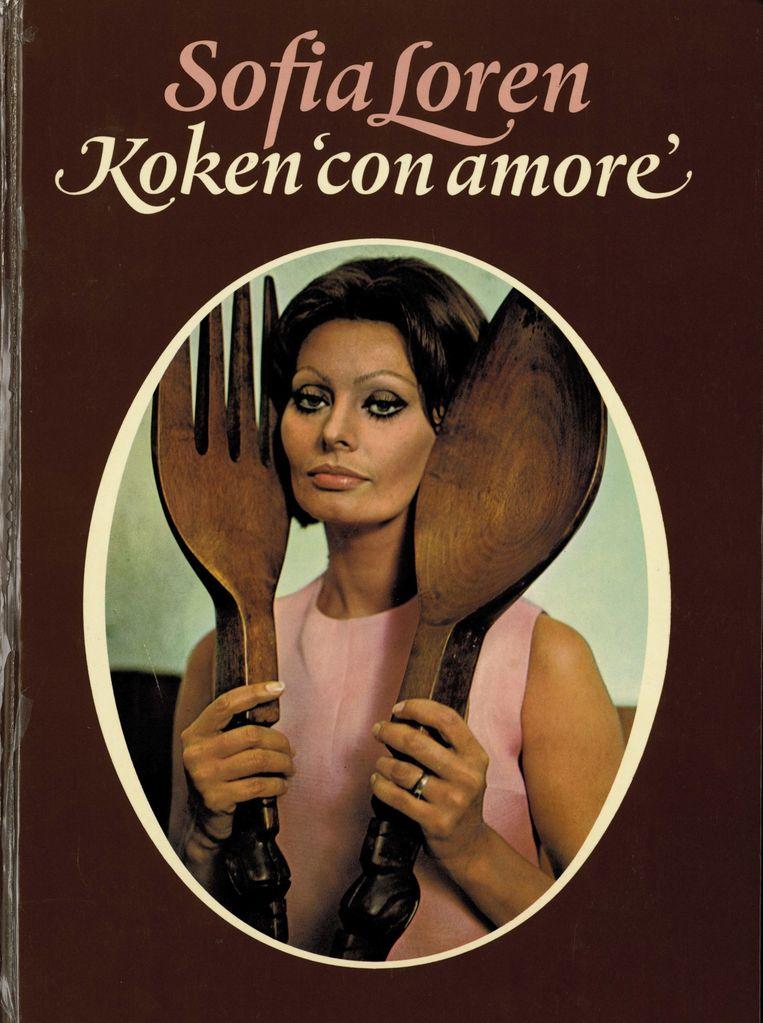 Lorens kookboek Cocina Con Amore. Beeld Sophia Loren