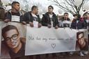 Stille tocht ter nagedachtenis aan de doodgeschoten 17-jarige Mohammed Bouchikhi. ANP EVERT ELZINGA