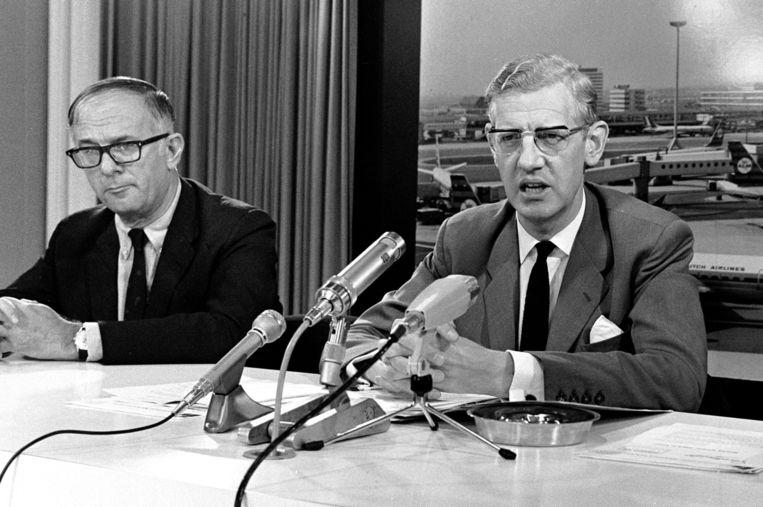 Berend-Jan Udink (r) in 1970. Beeld anp